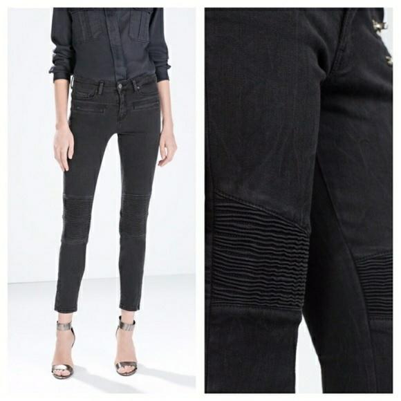 c6e650ea Zara Woman Moto Skinny Jean. M_5bf10c3612cd4a8cb2845e3a
